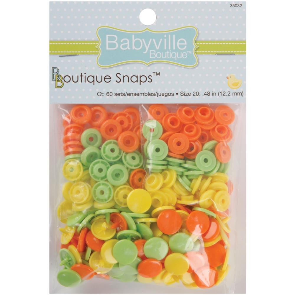 Babyville Snaps-Size 20- 60ct- Green Yellow Orange
