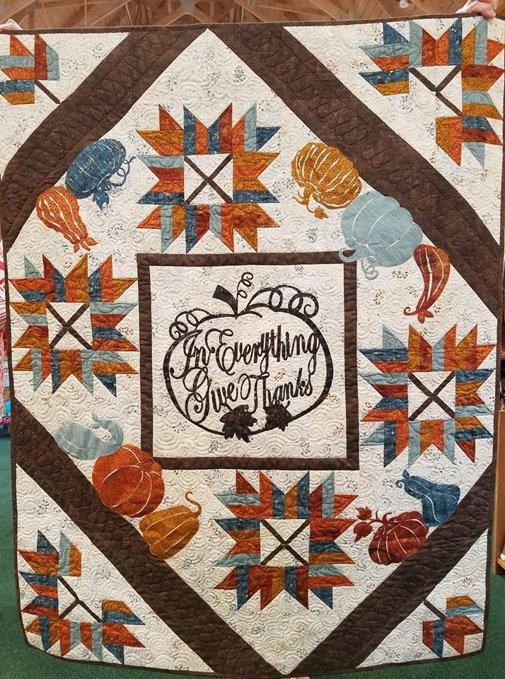 Give Thanks Fall Pattern with Pre-Cut and Pre-Fused Appliques