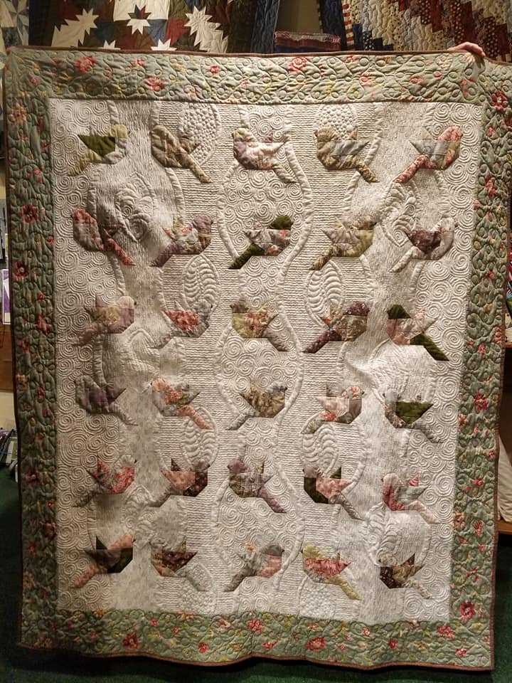 Feathers Quilt Kit 60 1/2 x 70 With Pattern