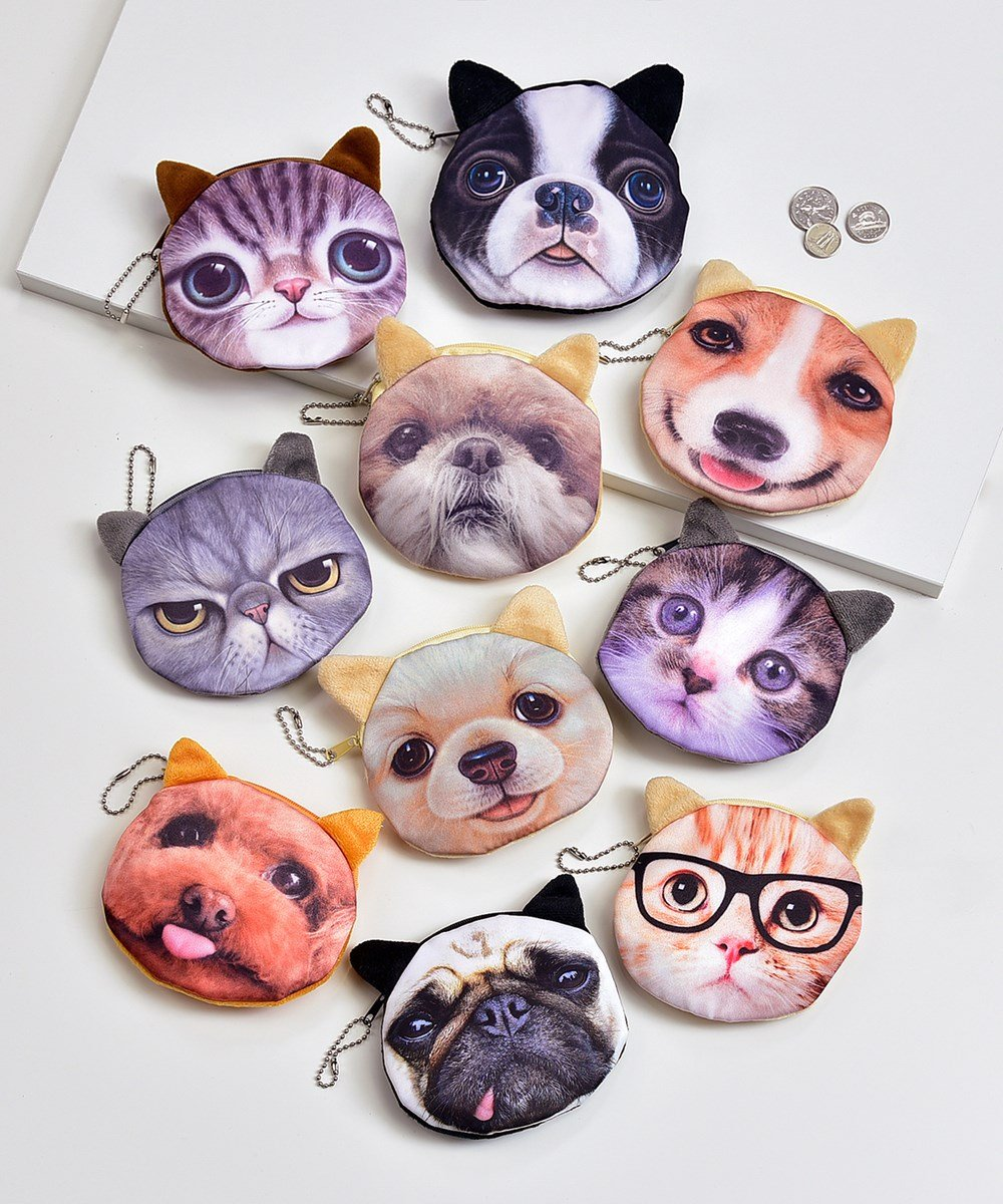 Cats and Dogs Coin Purse