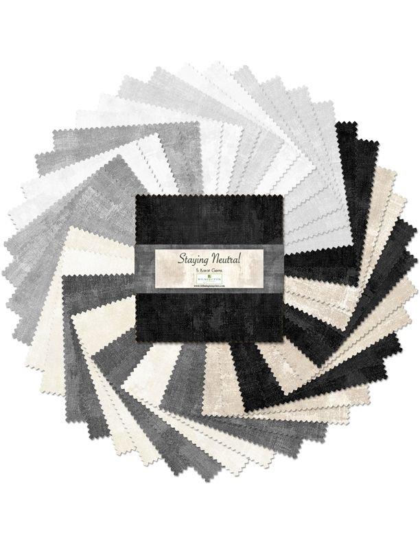 Dry Brush - Staying Neutral 5 Squares Karat Gems Pack