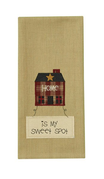 Home is My Sweet Spot Embroidered Tea Towel