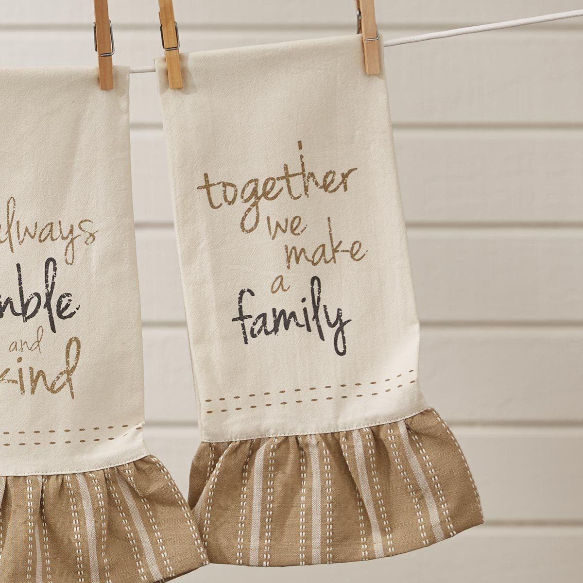 Together We Are A Family Print Dishtowel