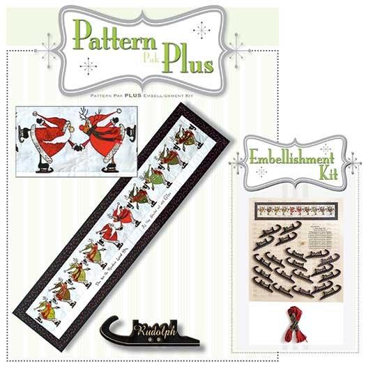Glee Skating Santa & Reindeer Pattern Pak Plus