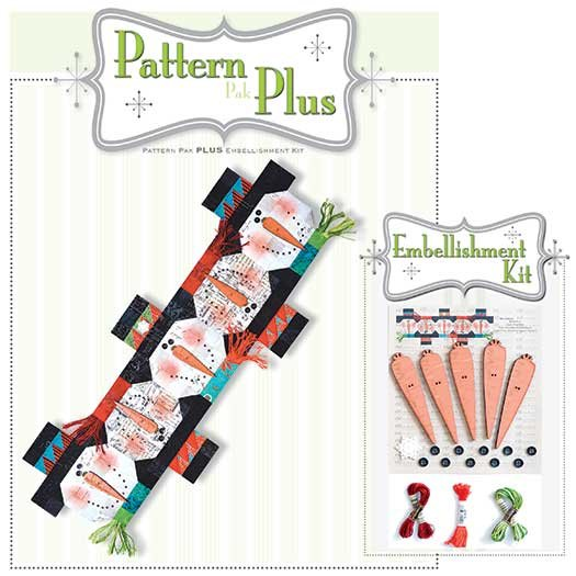 Button Snowman Pattern Plus Embellishment Kit