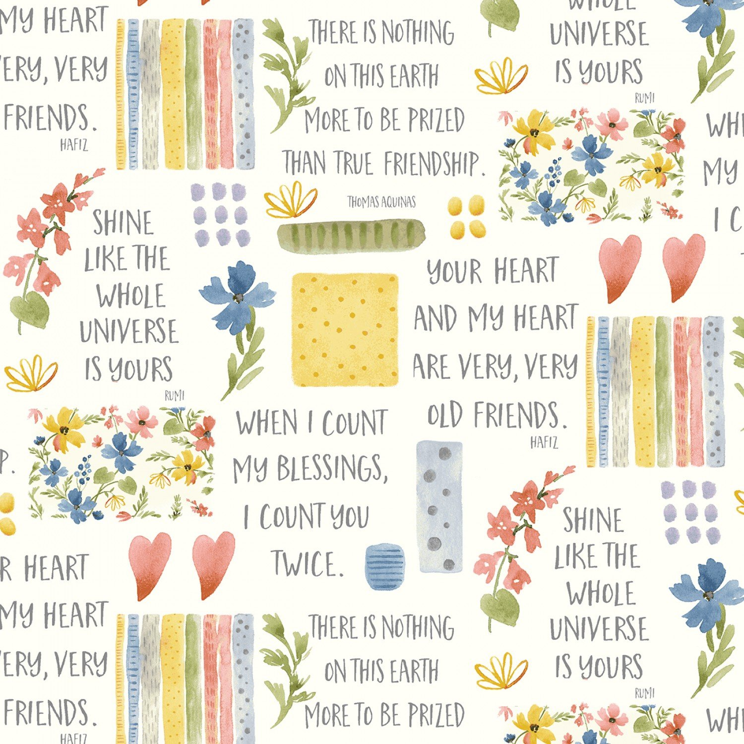Blessings - Flowers and Sayings