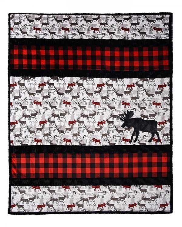 A'Moose'd Throw Quilt Kit - 58x68