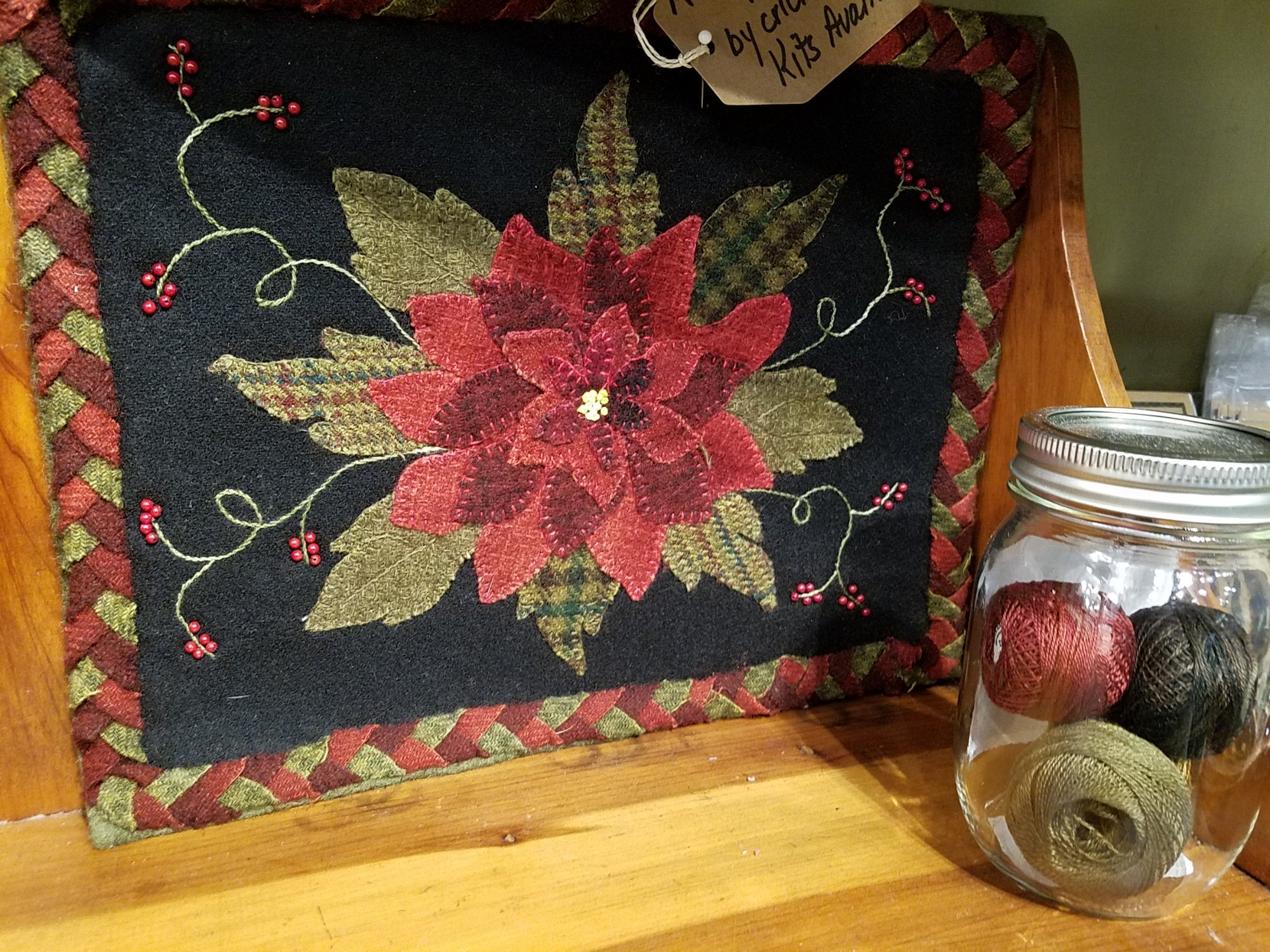 A Sign of Christmas Wool Table Kit with Pattern 10.5 x 12.5