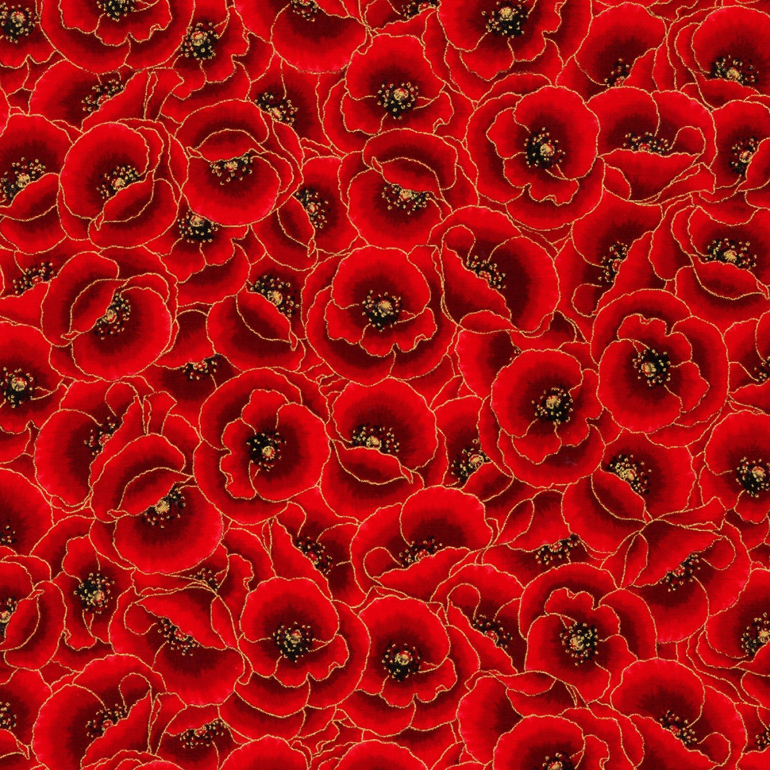 Gilded Blooms Packed Poppies w/ Metallic
