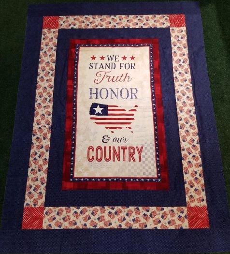 America, My Home Simple Panel Throw Kit