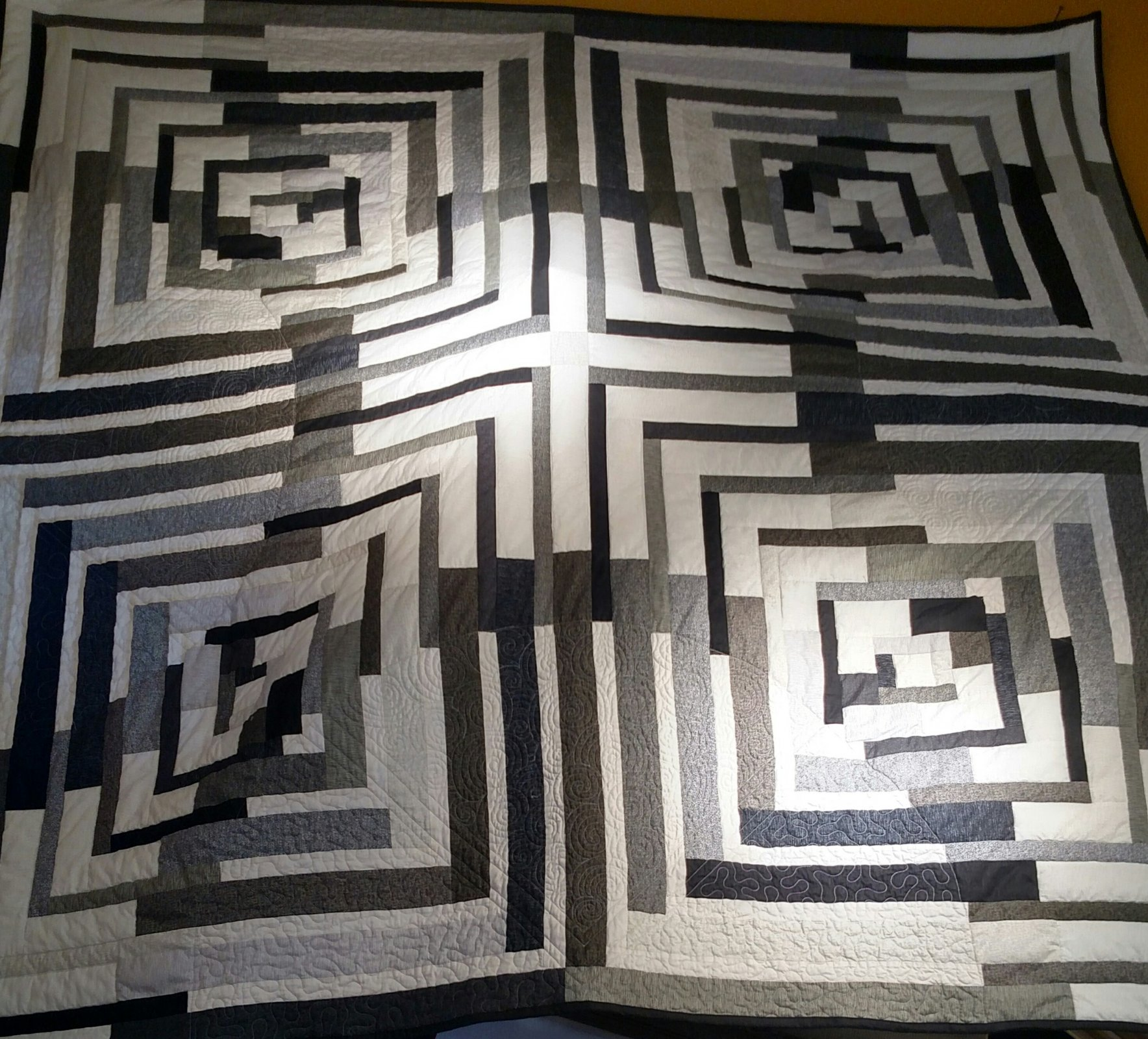 Antelope Canyon Quilt Kit with Pattern: 74.5 x 74.5