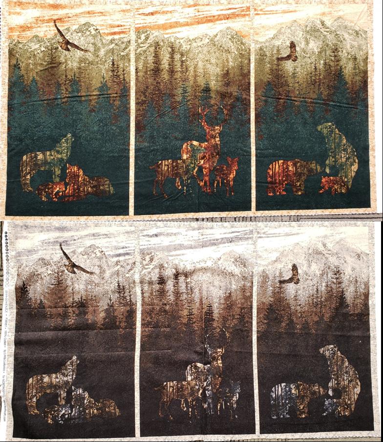 Aspen Ridge Flannel Panel - 2 Color Options