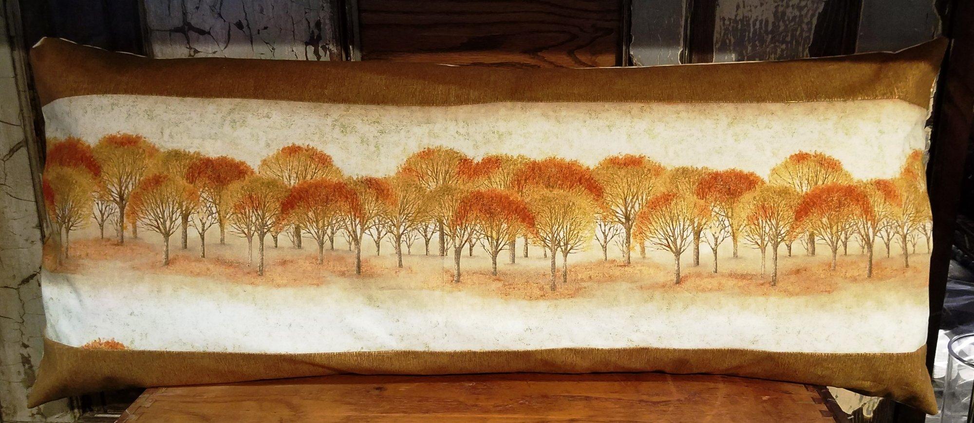 Autumn Trees Bench Pillow Kit