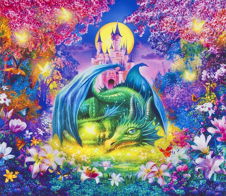 Picture This Dragon WILD 36in Panel