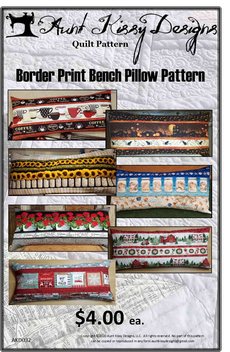 Border Print Bench Pillow Pattern