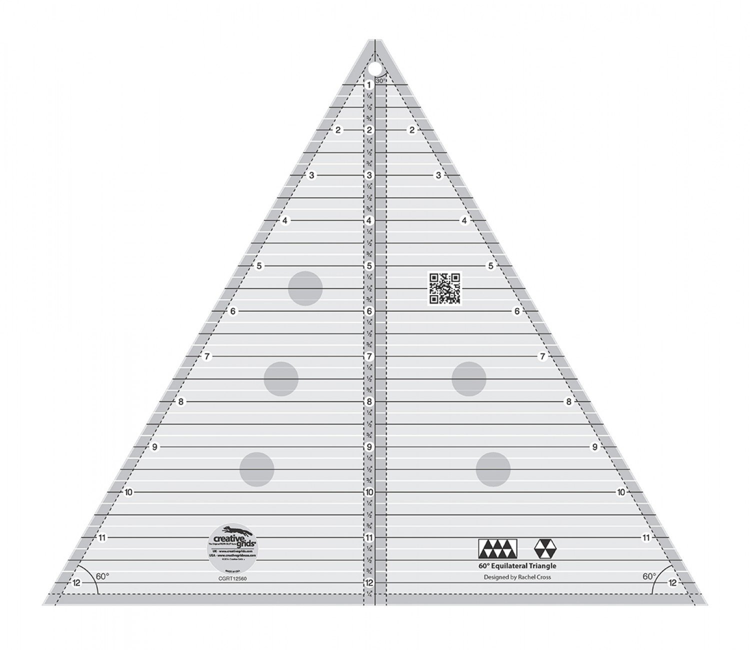 Creative Grids 60 Degree Ruler Triangle 12.5