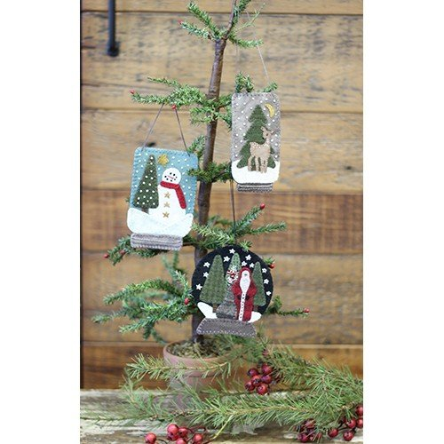 Christmas In A Jar Wool Ornaments Kit