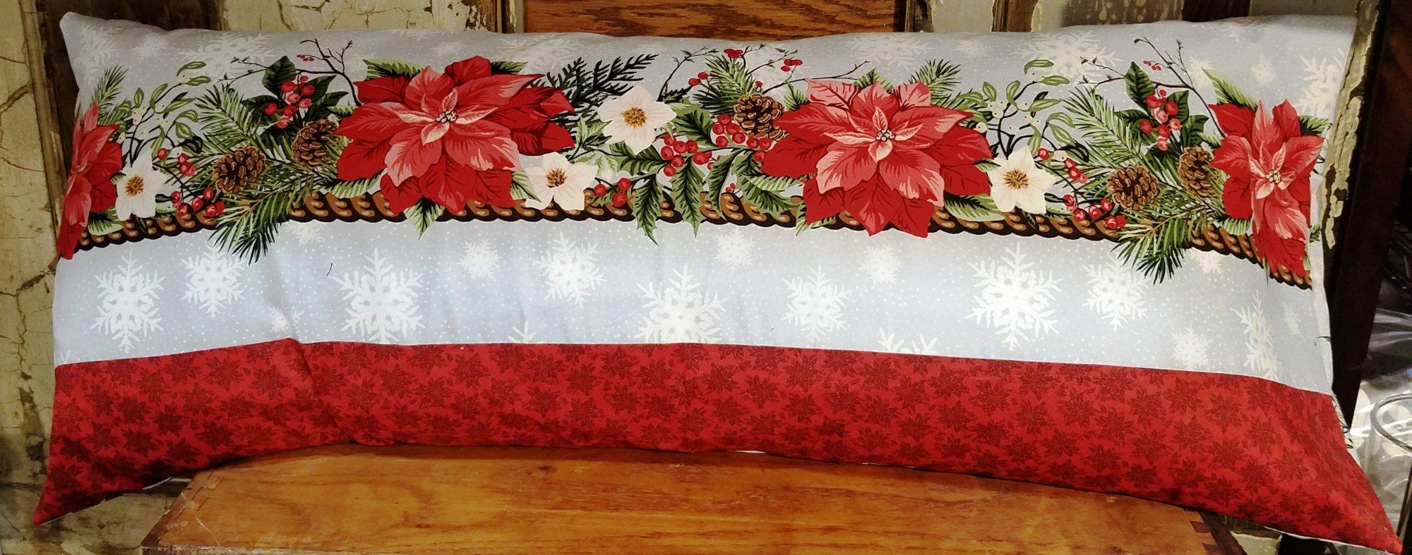 Bench Pillow Kit - Christmas Poinsettia