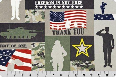Digital Cuddle Print - Soldier - Army Green