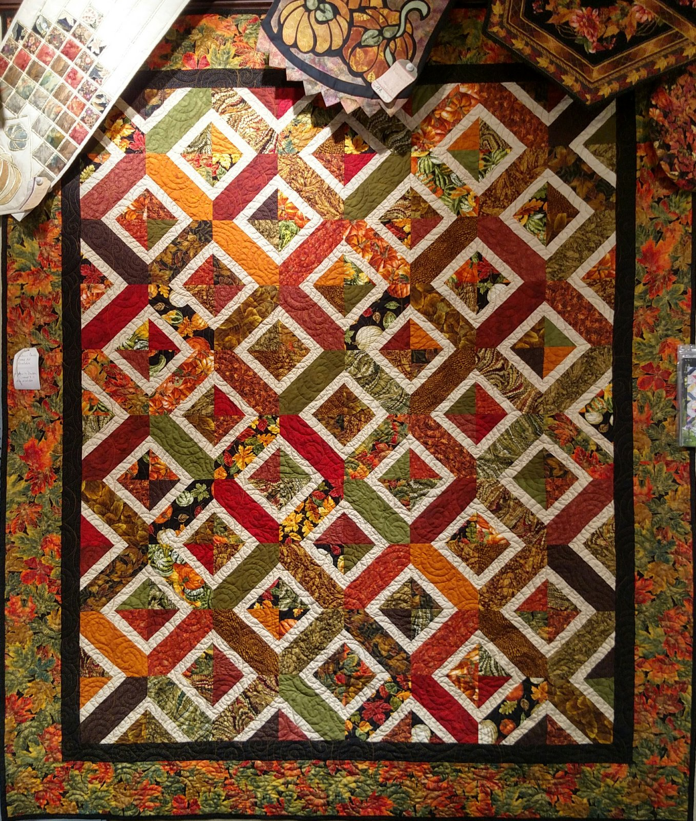 Double Crossed Autumn Kit with Pattern: 72 x 86