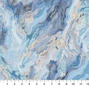 Swept Away - Marble 3 - Blue