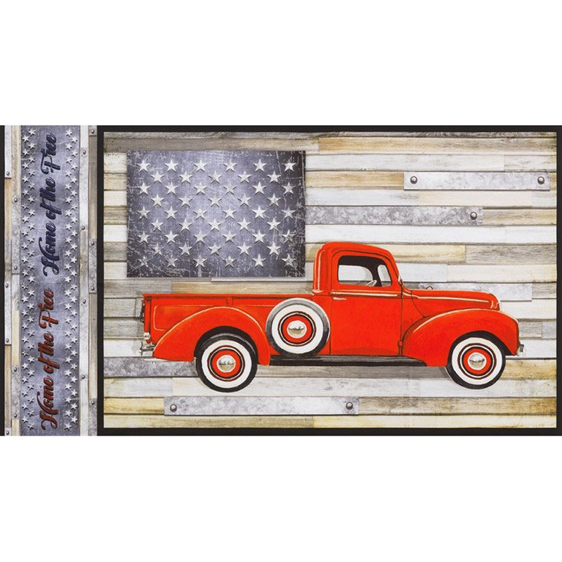 Country Farmhouse Red Truck