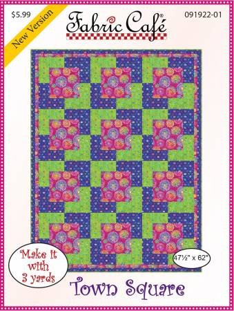 3-Yard Quilt Pattern - Town Square