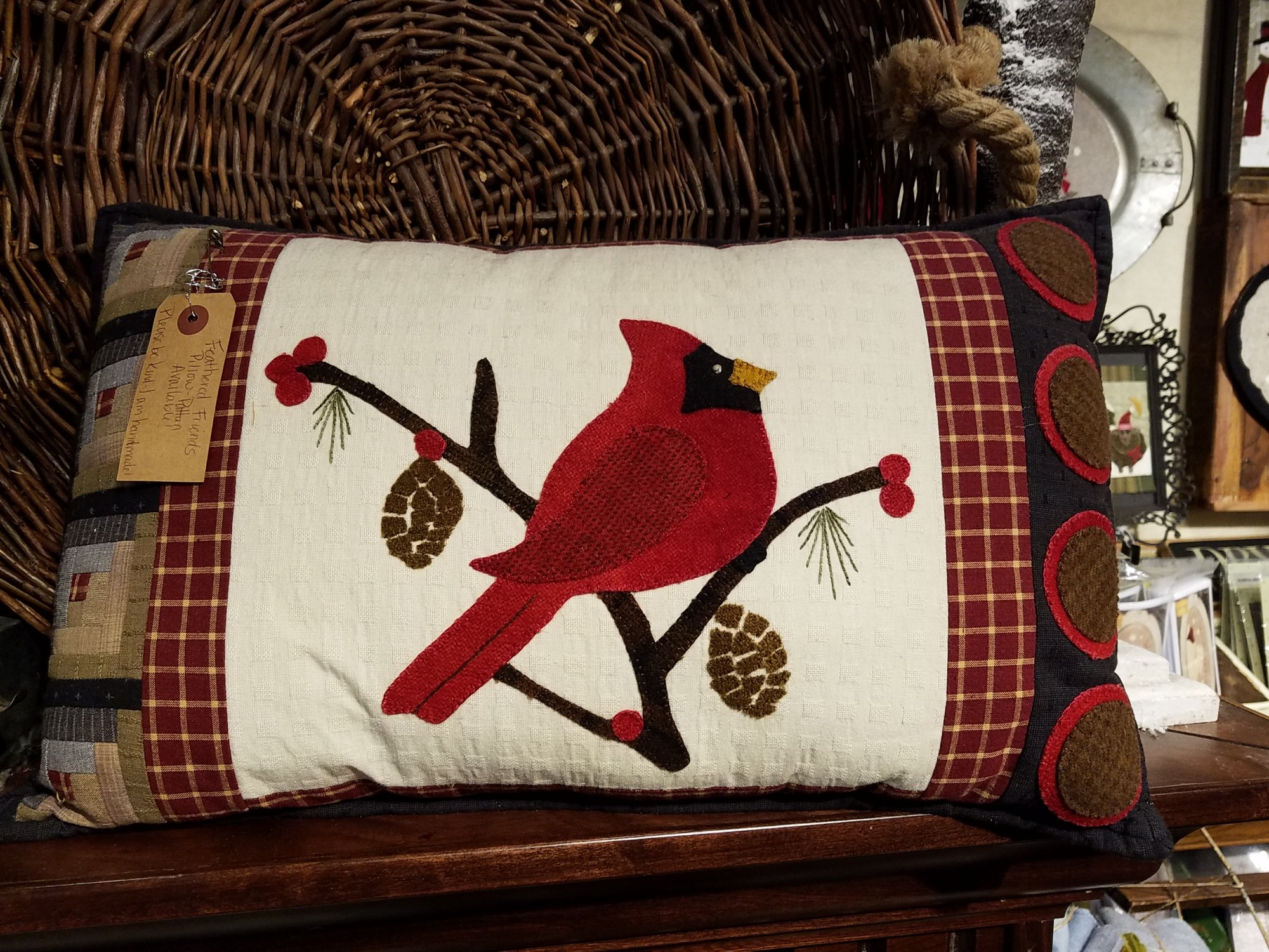 Feathered Friends - Cardinal Pillow Kit with Pattern: 18x 13