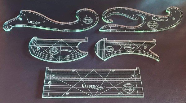 The Garden Lines Ruler Collection - Complete Set