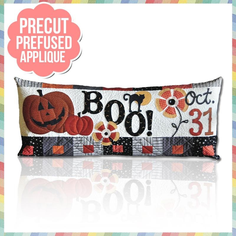 Halloween Boo! Bench Pillows October Pattern Pre-Cut & Pre-Fused Appliques