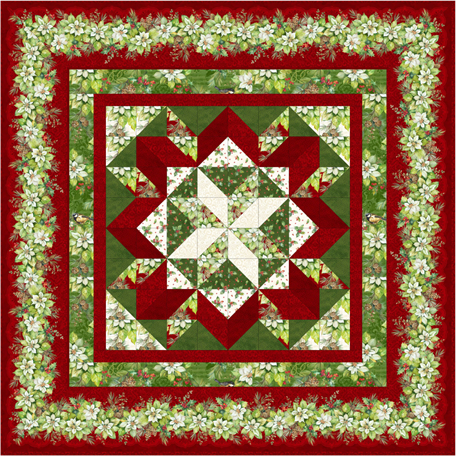 Holiday Star Throw Quilt Kit