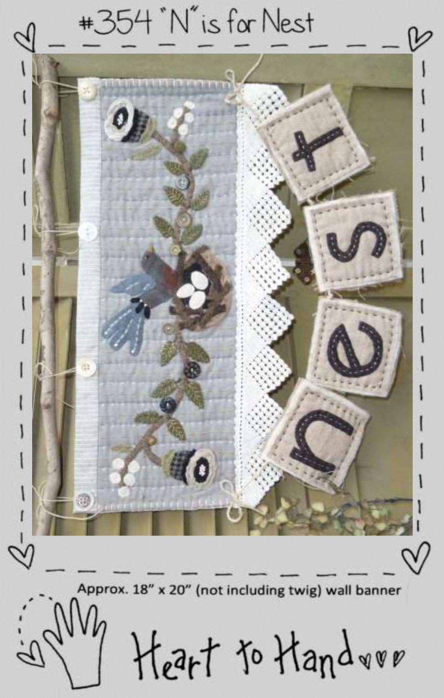 N is for Nest Wool Pattern