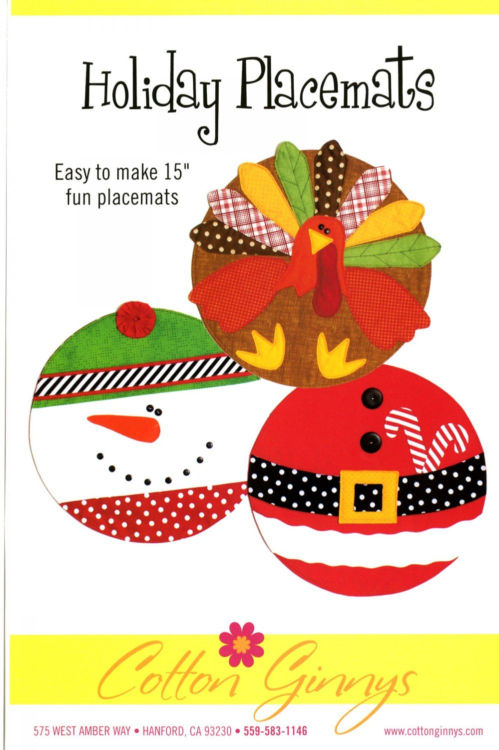 Holiday Placemats Pattern