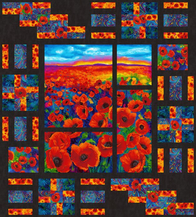 Panel Encore - I Dream of Poppy Kit 64 x 71