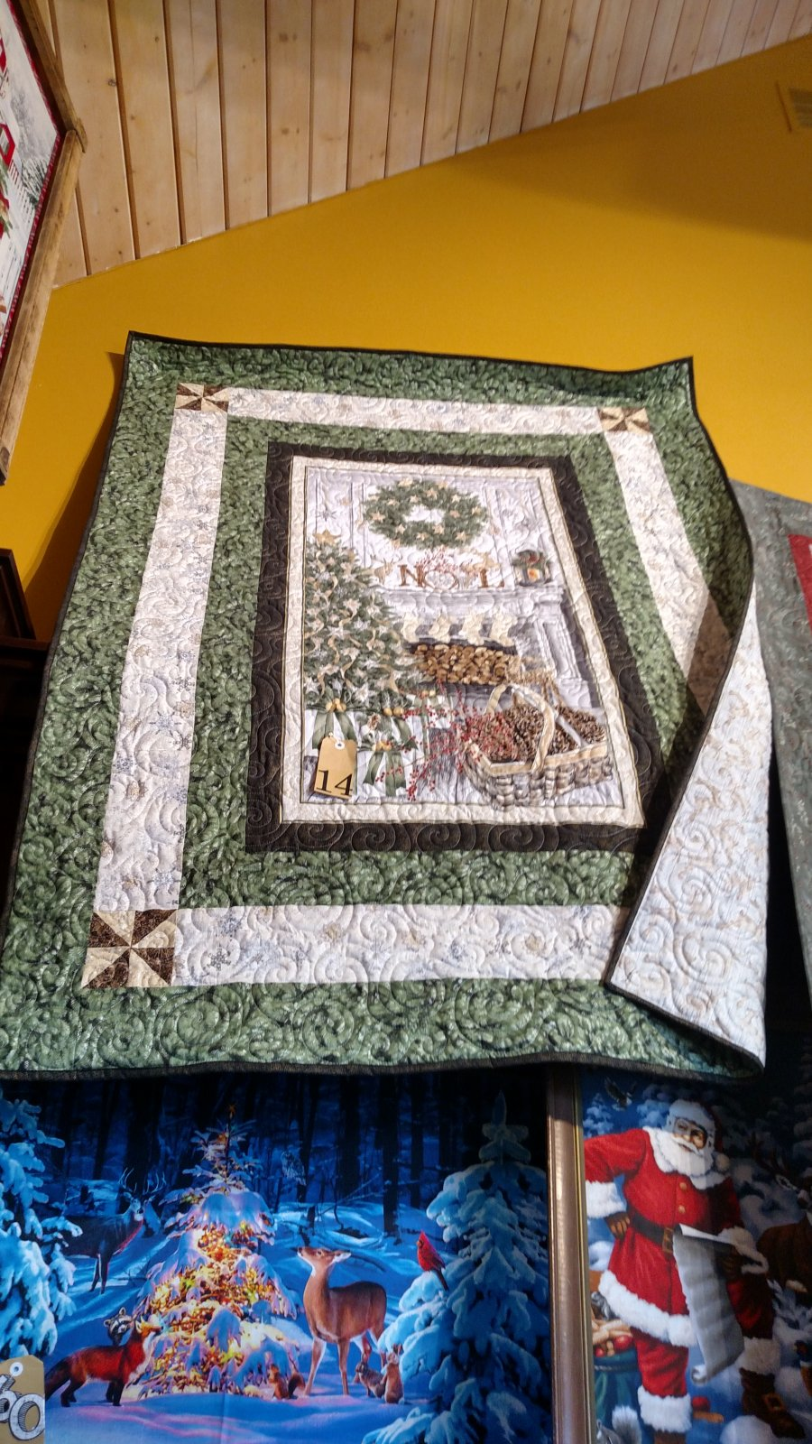 Holiday Mantel Panel Quilt Kit W/ Pattern 50 x 71.5