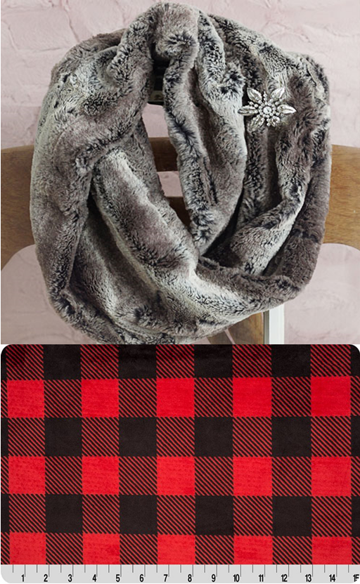 Infinity Scarf Kit - Red-Black Buffalo Check