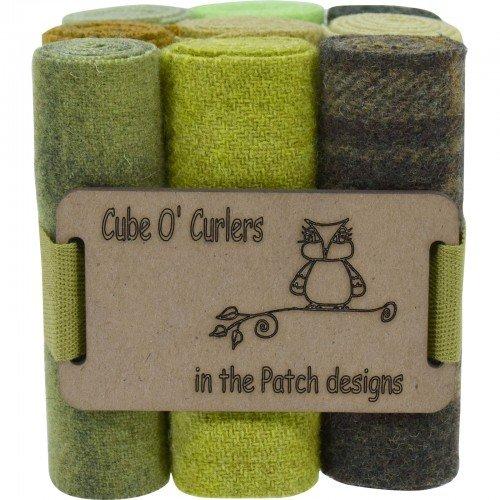 Cube O' Curlers Wool Pack - Greens