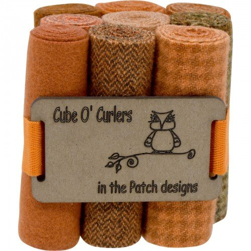 Cube O' Curlers Wool Pack - Oranges