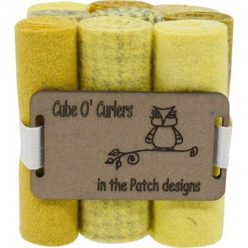 Cube O' Curlers Wool Pack - Yellows