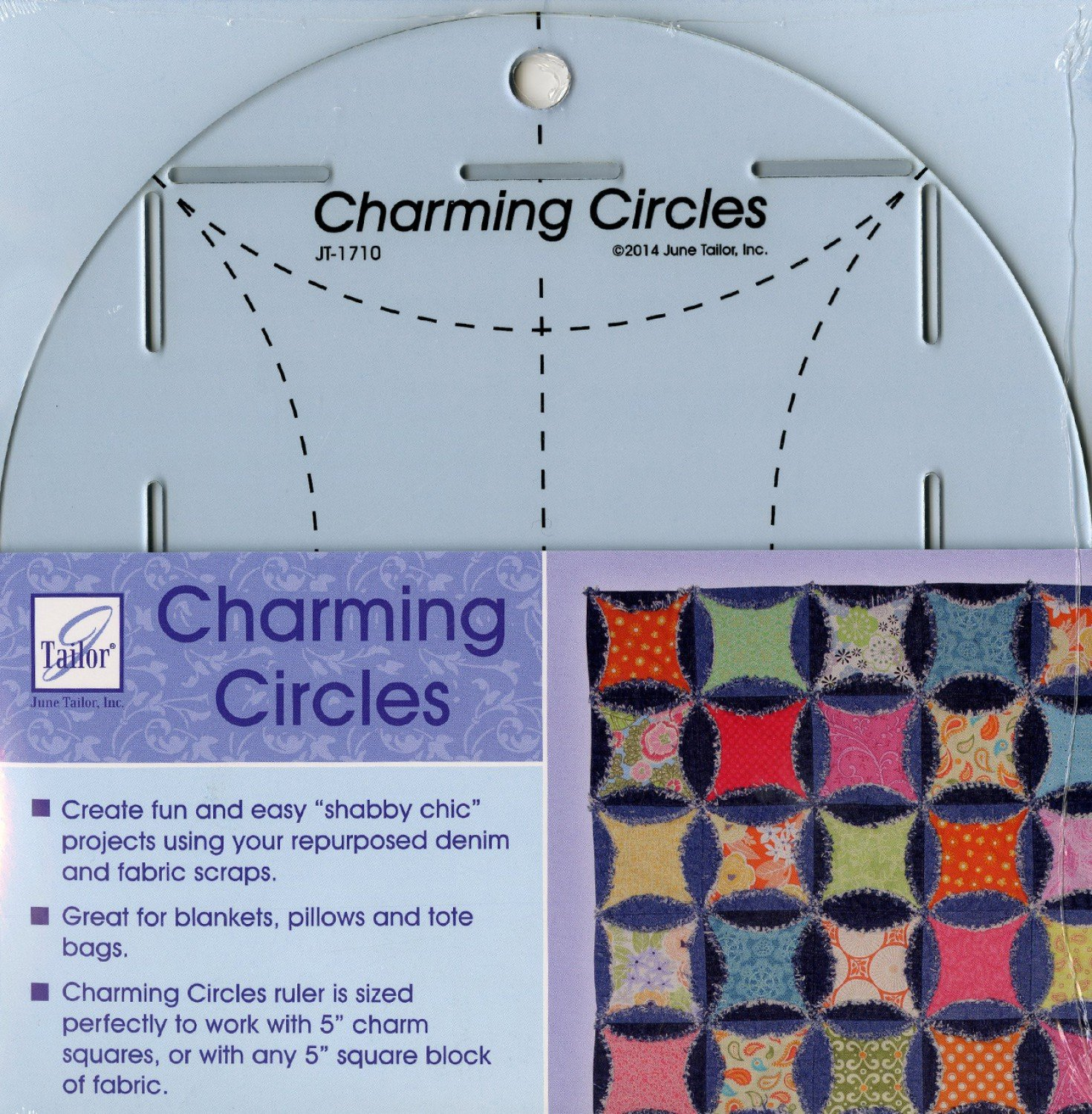 Charming Circles 5in Ruler