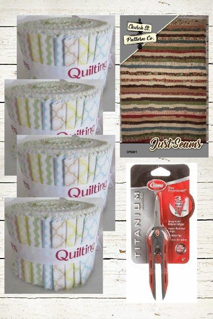 Just Seams Kit - Fabric, Pattern, Titanium Snips Bundle