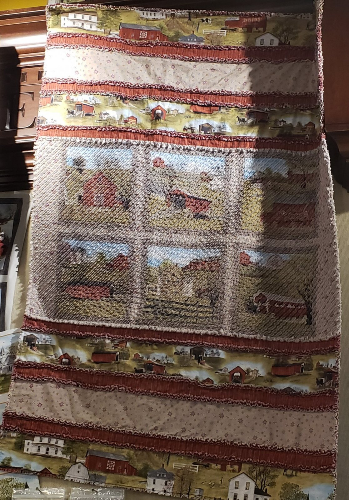 Just Seams Chenilled - Heading Home Throw Quilt Kit with Pattern
