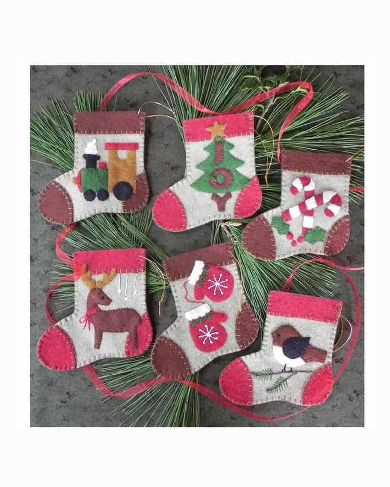Warm Feet Ornaments Wool Felt Kit
