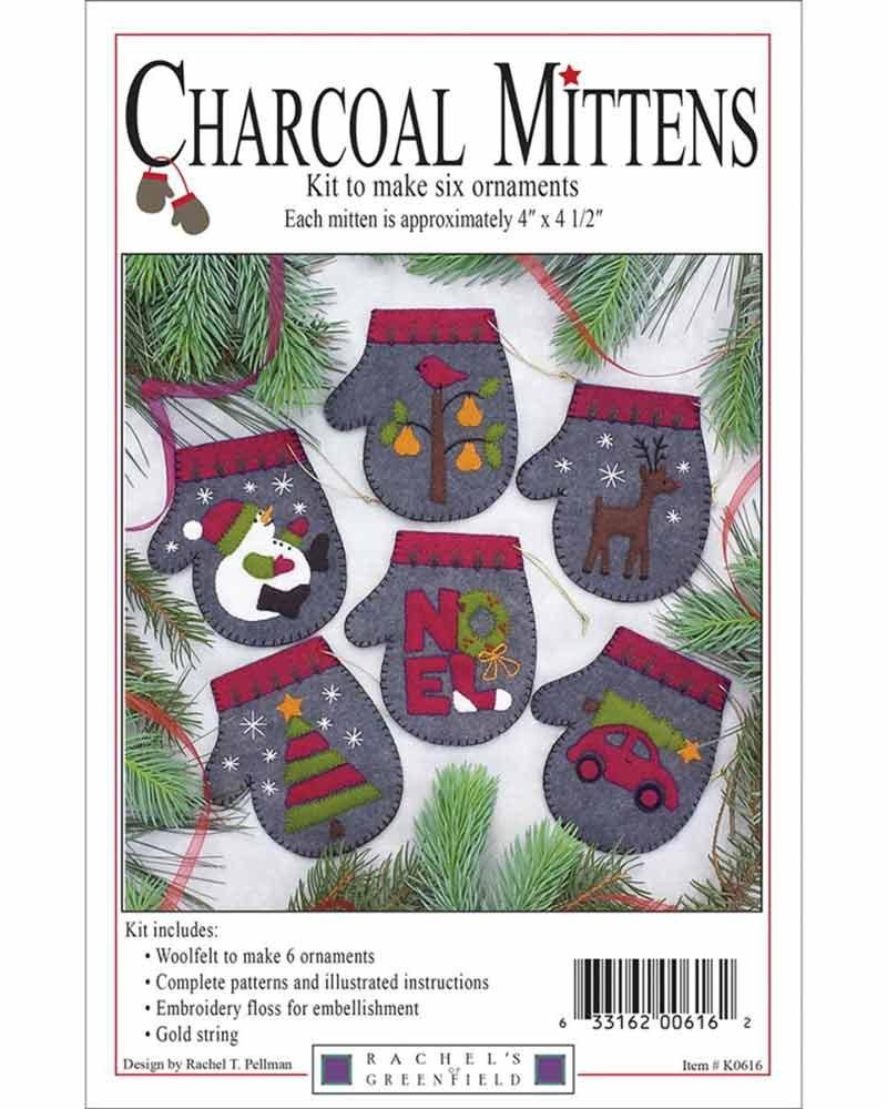 Charcoal Mittens Ornaments Kit