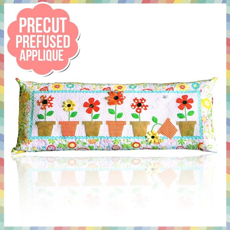 May Flowers Bench Pillow Pattern with Pre-Cut & Pre-Fused Appliques