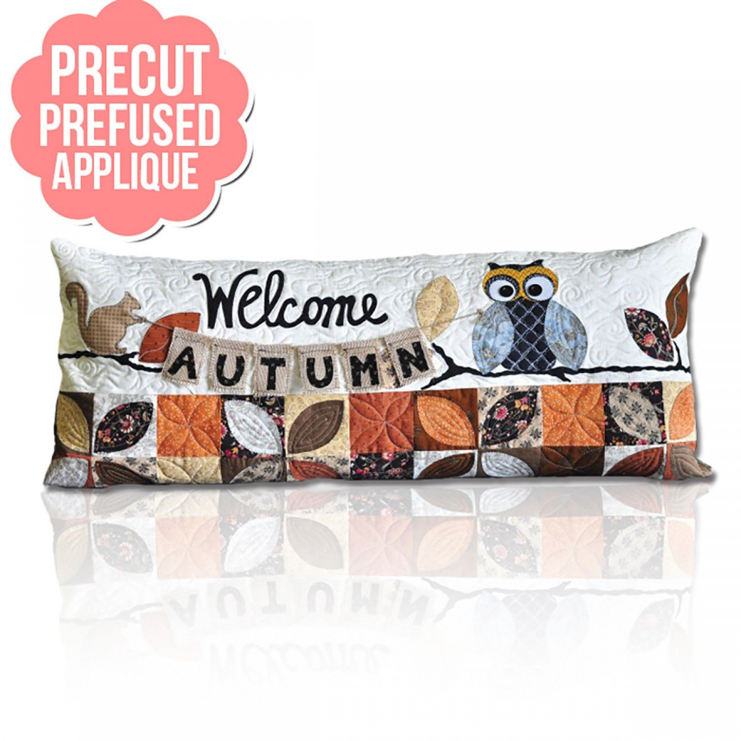 Welcome Autumn Bench Pillow Pre-Cut Pre-Fused Appliques with Pattern