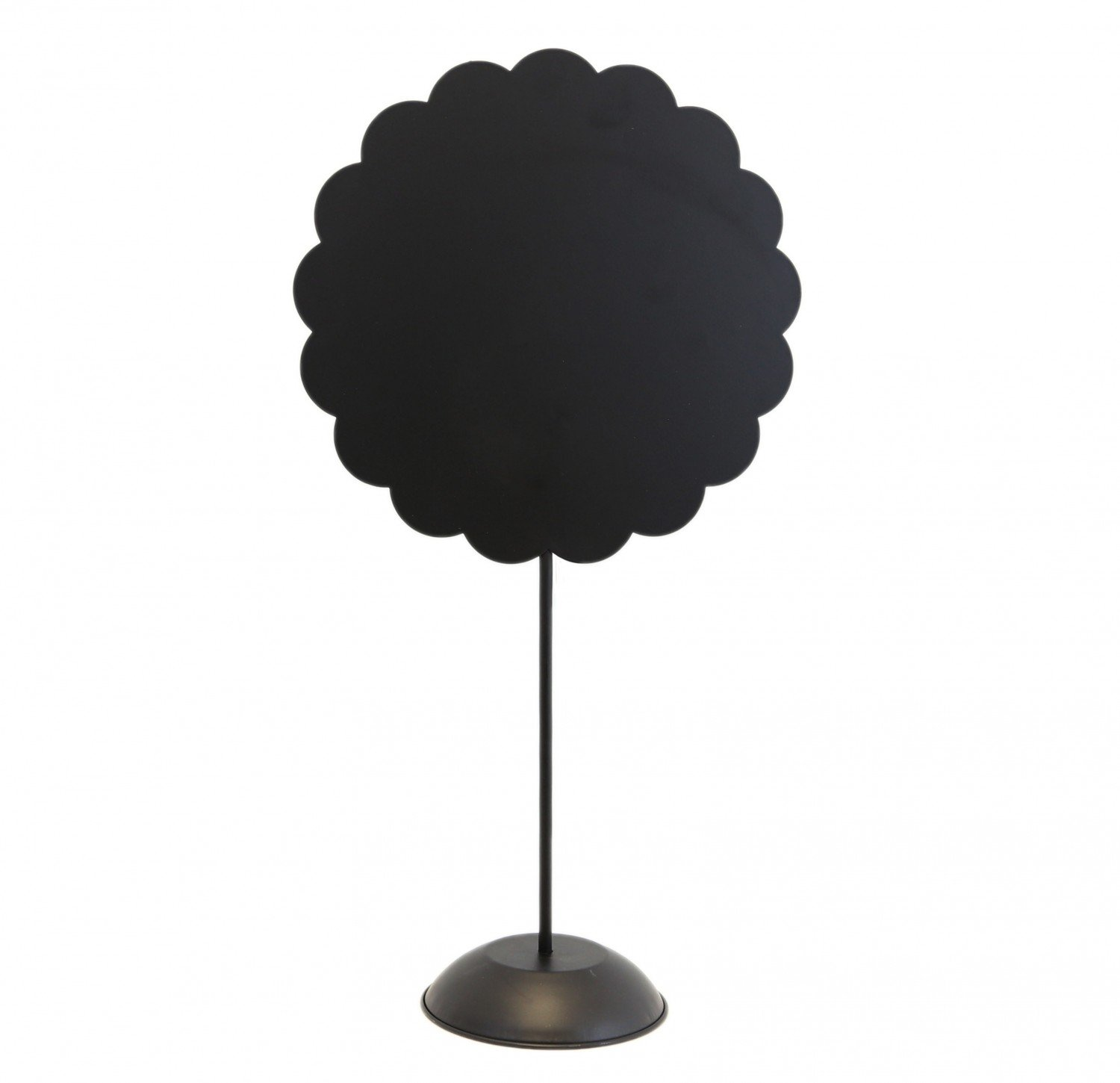 Black Scallop Circle Stand