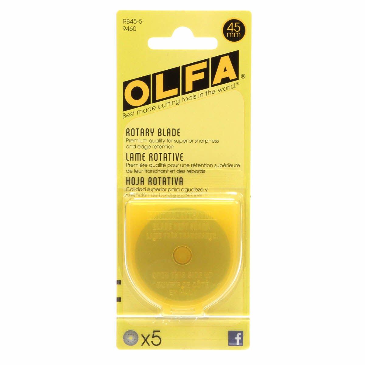 Olfa 45MM Rotary Blades - 5pk