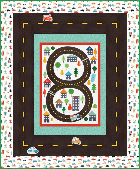 On The Road Quilt Kit  56 x 68