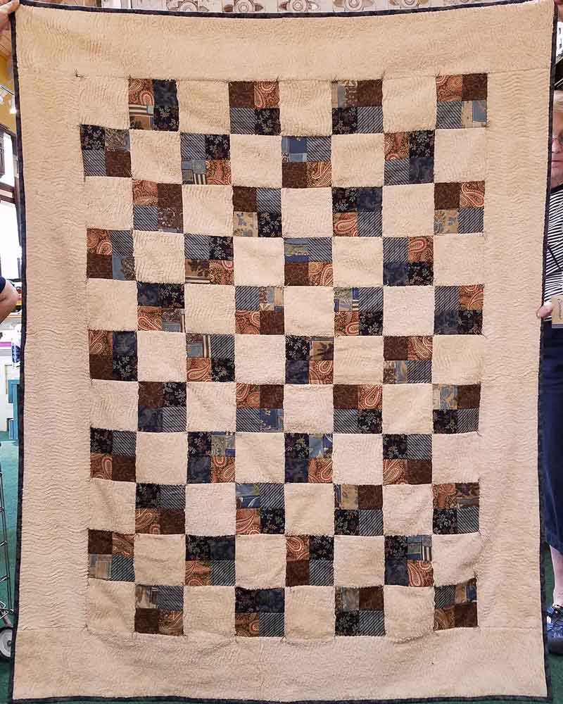 Chenille 4-Patch Adult Quilt Kit with pattern 53 x 68 $68.98